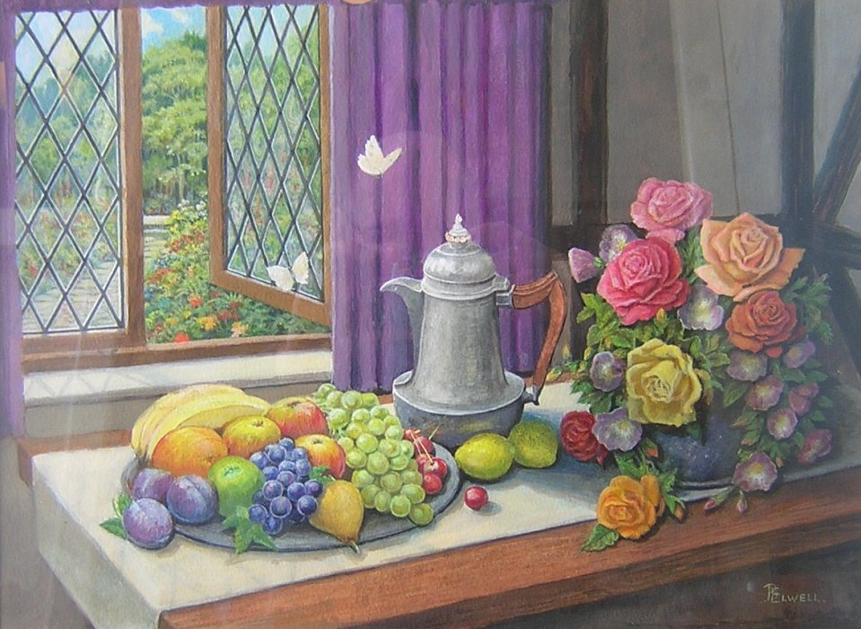 Still life (Fruit and Flowers)