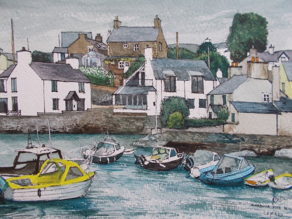 44 - Harbour Side Buidlings , Cemaes
